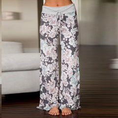 Women's Multi Colors Floral Print Wide Legs Sleep Bottoms Pajama Pants Clothing