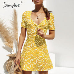 Women's casual bohemian floral print dress clothing