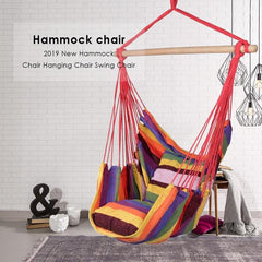 Outdoor Garden Hanging Chair Hammock Chair Swing With 2 Pillows