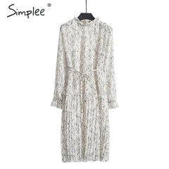 Women's ruffled long sleeve floral dress clothing