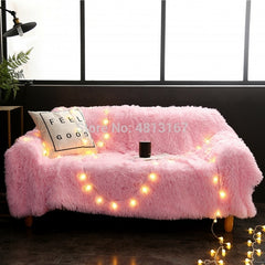Soft Long Shaggy Throw Fluffy Blanket Bed and Couch Cover