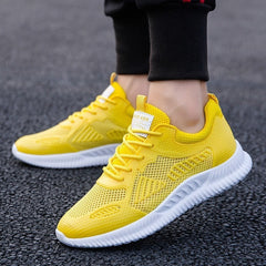 Men's Casual Breathable Lace up Sneakers Shoes