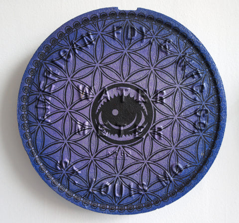 Flower of EYEZ Water Cap - painted and engraved.