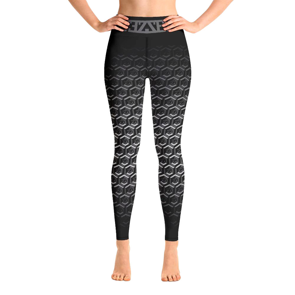 EXCLUSIVE! Cubed Grey Faded EYEZonLEGS Leggings