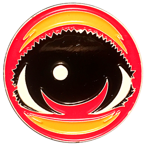 Classic EYEZ Enamel Hat Pin - RED