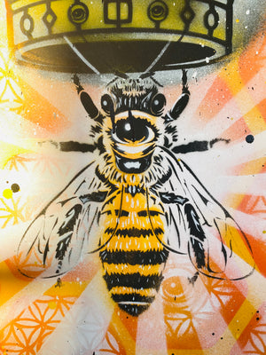 Beez are Sacred - 36x36 canvas Painting