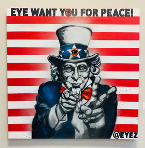 Eye want you for PEACE 48x48 painting