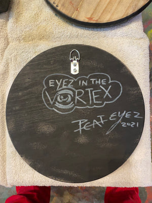 EYEZ in the Vortex - 12x12 engraved panel.