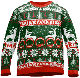 the UglEYE Christmas Sweater