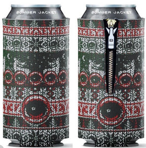 Holiday Eyez ❤️✌️️ 16 oz Drink Coozie - Bomber Jacket