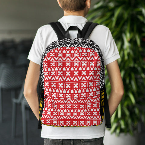 EYEZ Totem Pattern Backpack