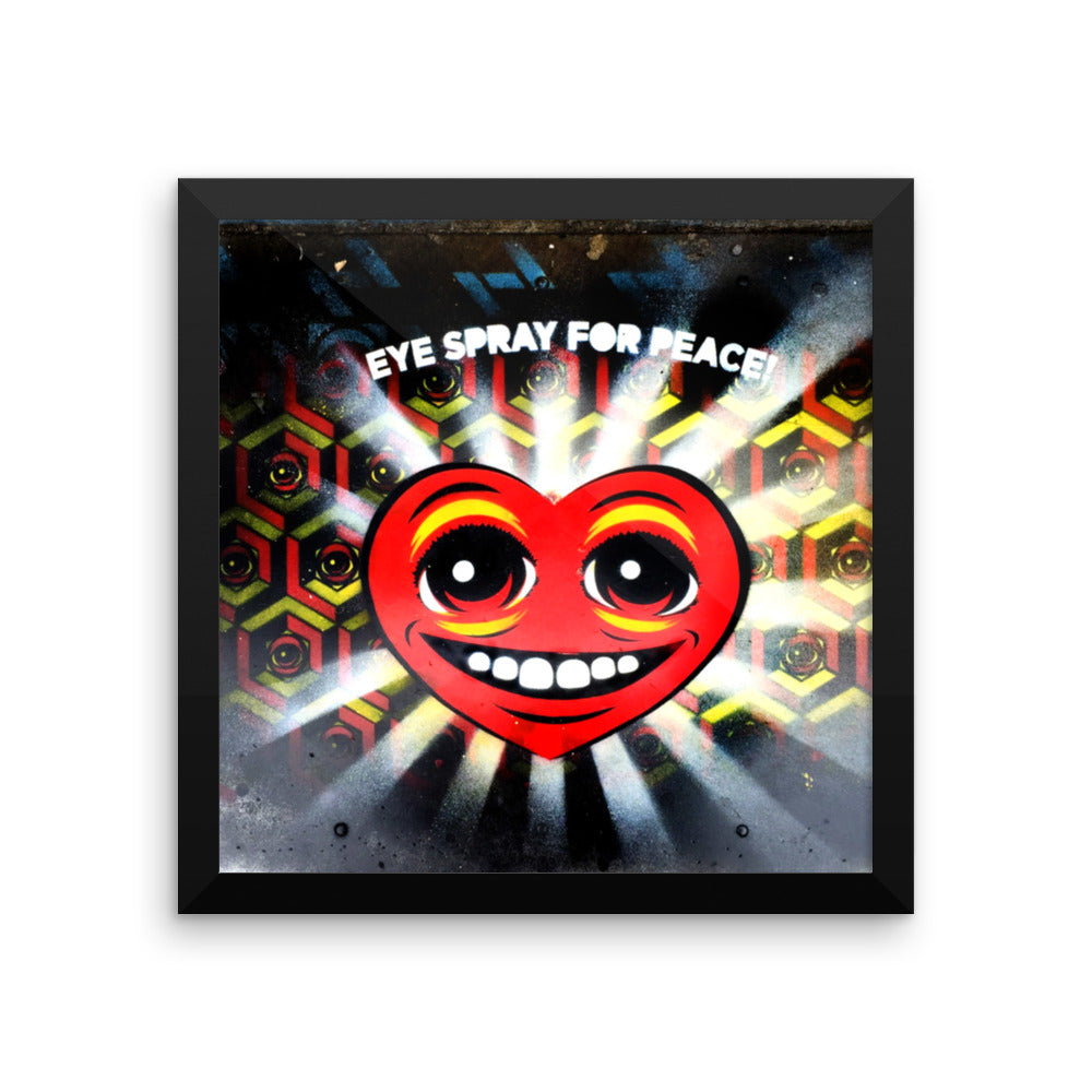 EYE SPRAY for PEACE - Framed print
