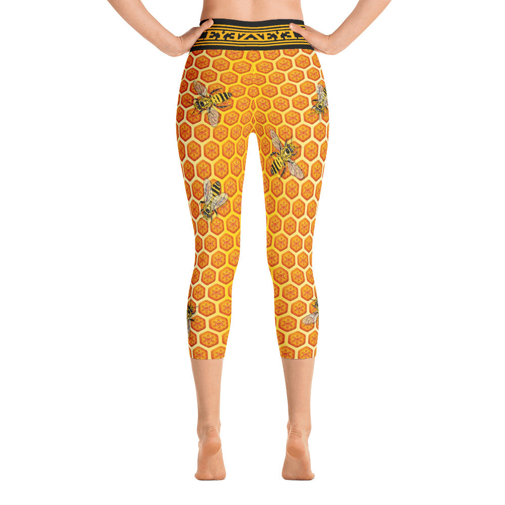 Beez are Sacred EYEZ Yoga Capri Leggings