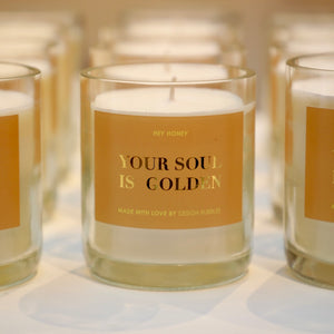 """YOUR SOUL IS GOLDEN"" CANDLE"