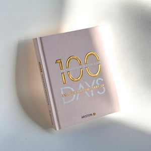 Buch 100 DAYS-Vom Traum zum Start-up-Kerze-Champagner-Mom-Design-Bubbles