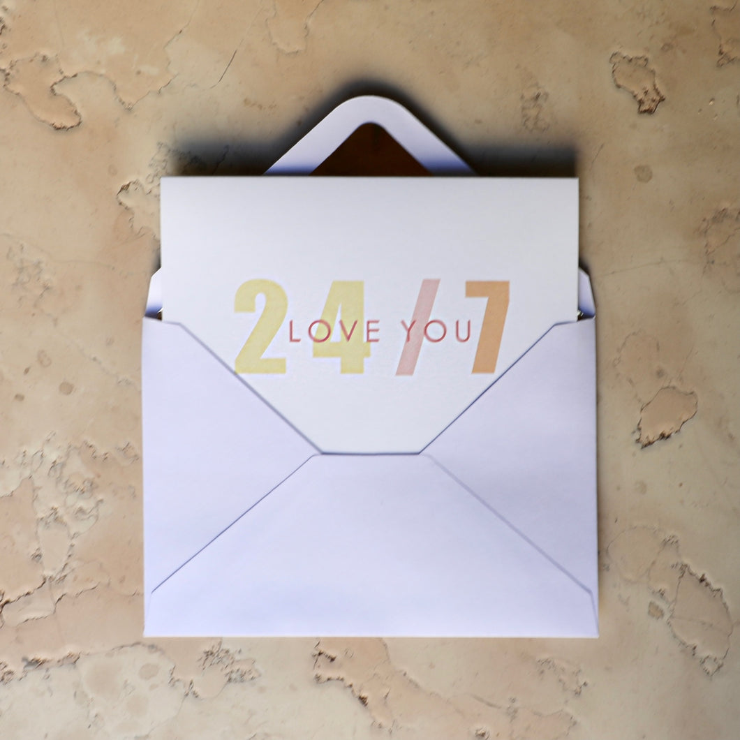 LOVE YOU 24/7 CARD