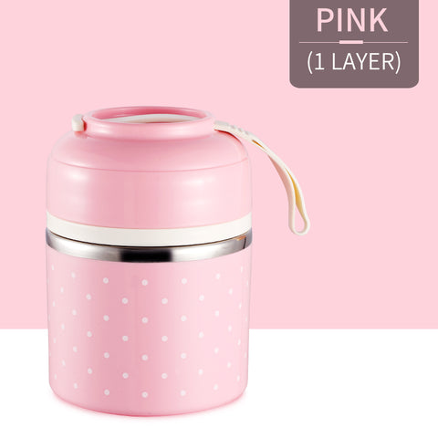 CUTE! Premium Steel Thermal Lunch Box