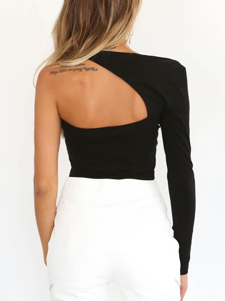 One Long Sleeve Backless Crop Top - DadHats2ow6ix