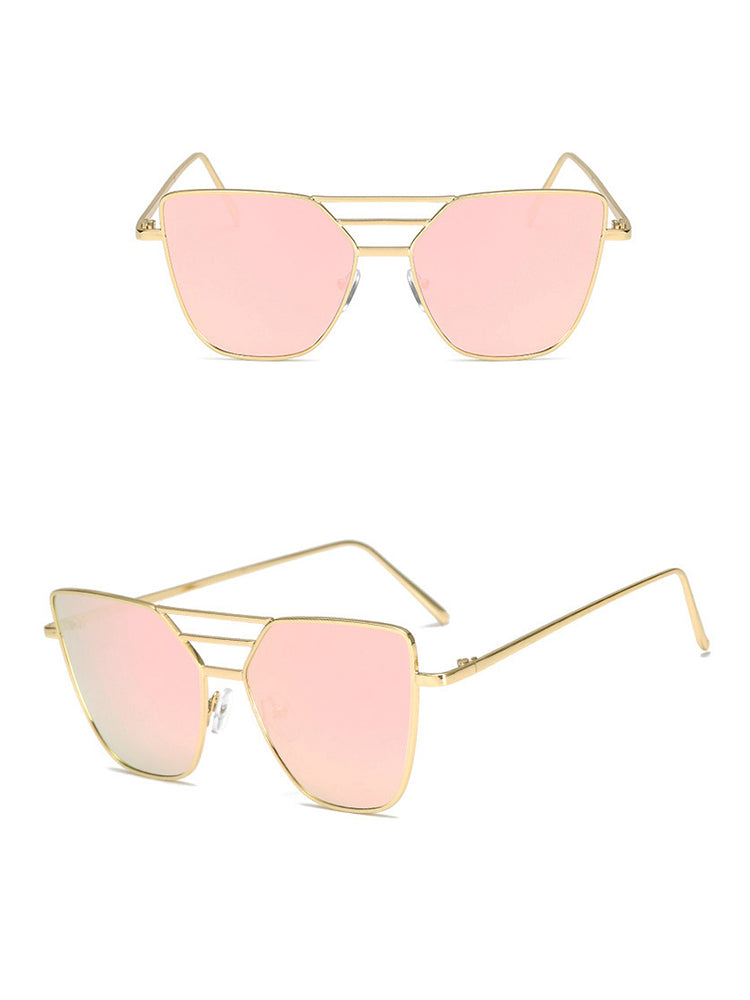 Stylish Irregular Lens Metal Frame Sunglasses - DadHats2ow6ix