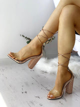 Hot Drilling Serpentine Strappy Heeled-Sandals - DadHats2ow6ix