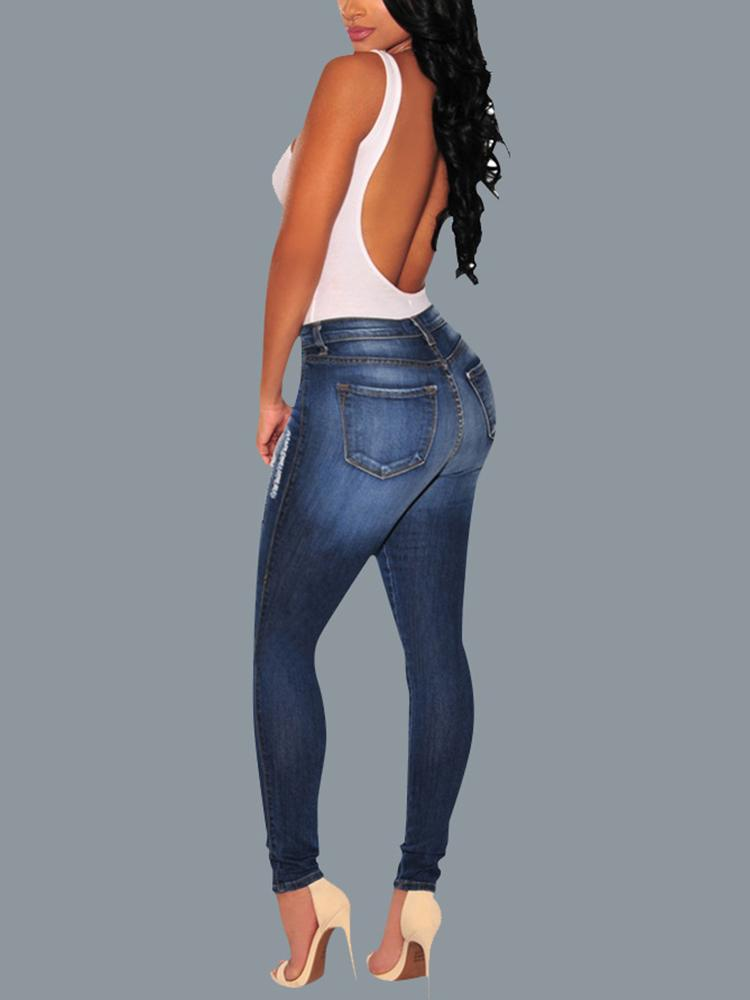 Oversize Ripped Skinny Pencil Jeans - DadHats2ow6ix