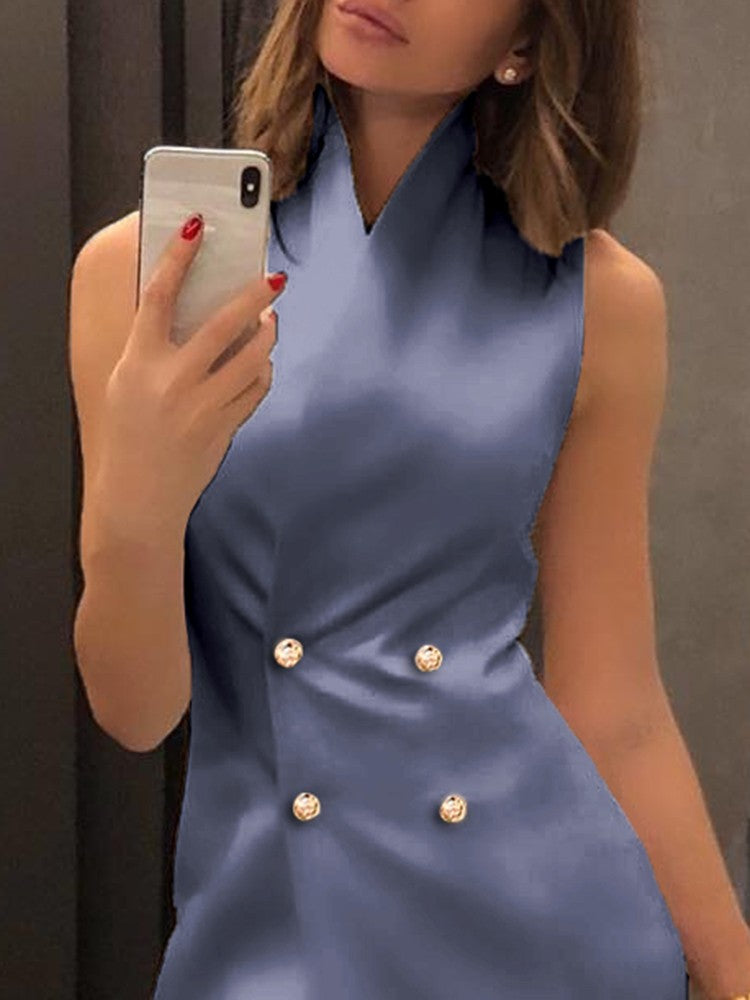 Double Breasted Mini Blazer Dress - DadHats2ow6ix