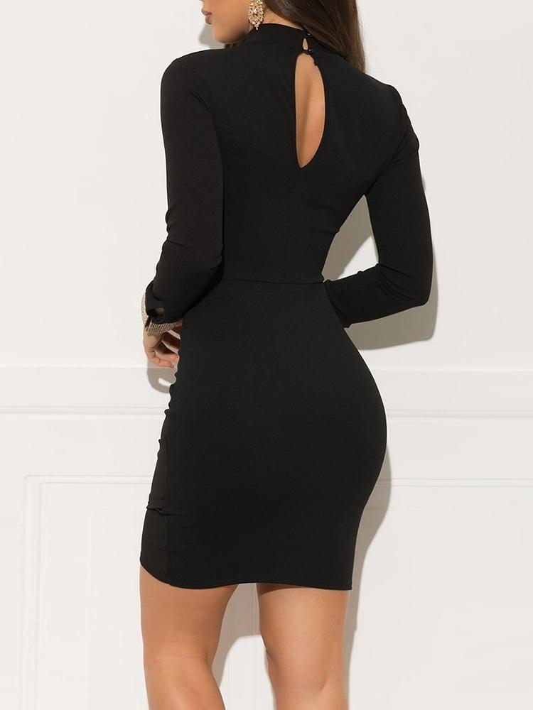Studded Cuff Cut Out Bodycon Dress - DadHats2ow6ix
