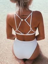 Bandage Lace-Up Cut Out Bikini Sets - DadHats2ow6ix