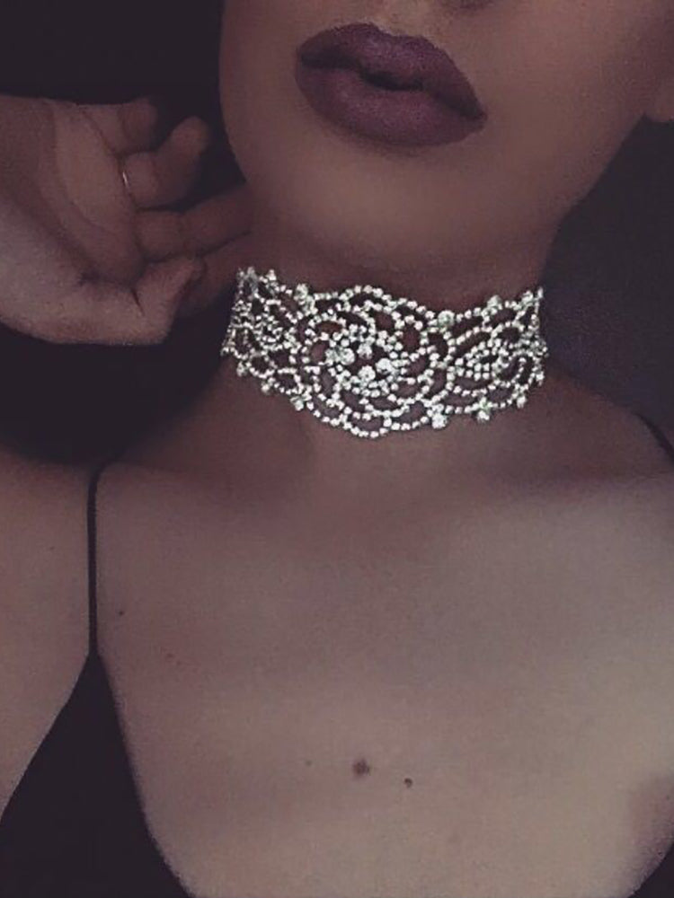 Vintage Style Alloy Sparkling Shiny Choker - DadHats2ow6ix