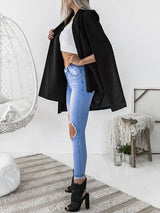 Trendy Cape Sleeve Blazer Coat - DadHats2ow6ix