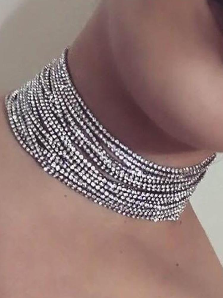 Exaggerated Multi-layer Full Shiny Choker - DadHats2ow6ix