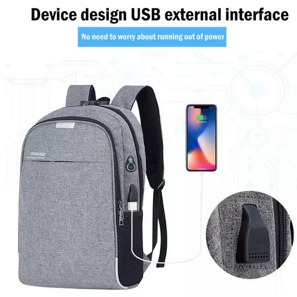 Slim Laptop Backpack Business Computer Bag With Headphone Port Anti Theft New - DadHats2ow6ix