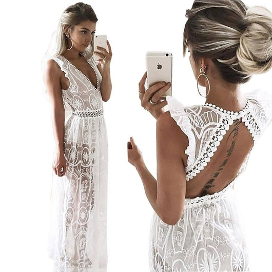 Angel On Fire Maxi Dress - DadHats2ow6ix