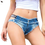TASTIEN Sexy Vintage Mini Shorts For Women Jeans Booty Shorts Cute Bikini Denim Short Hot Vestidos Sexy Club Party Beach Bottom - DadHats2ow6ix