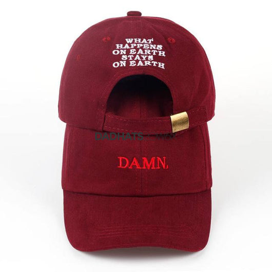 2017 ne'w wine red kendrick lamar damn cap embroidery DAMN. unstructured dad hat bone women men the rapper baseball cap - DadHats2ow6ix