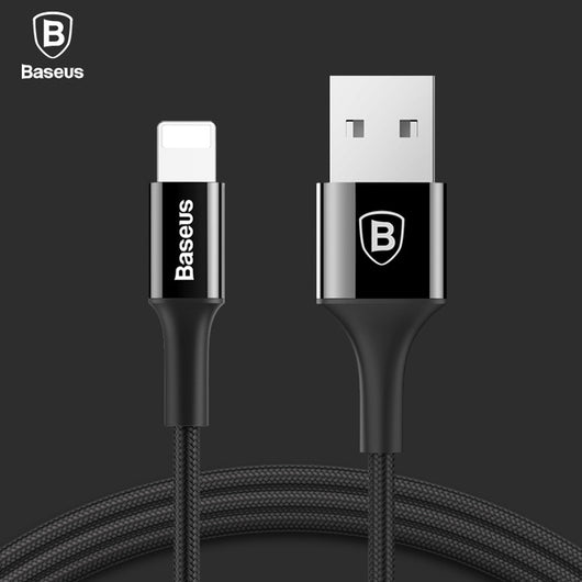 Baseus LED Charger Cable For iPhone 8 7 6 USB Data Cable For iPhone X iPad 2A Fast Charger Cable LED lighting Mobile Phone Cable - DadHats2ow6ix