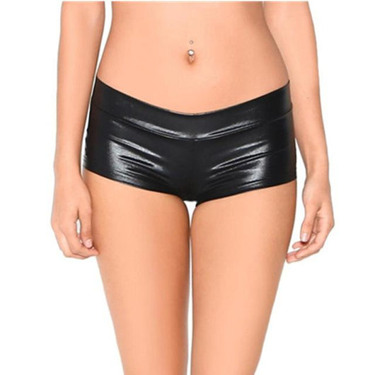 Womens Low Waisted Sexy Lycra Metallic Rave Booty Dance Shorts Spandex Shiny Pole Dance Shorts Gold Silver Shorts For Stage 371 - DadHats2ow6ix