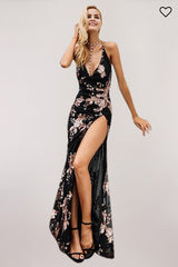 Backless high split maxi dress - DadHats2ow6ix