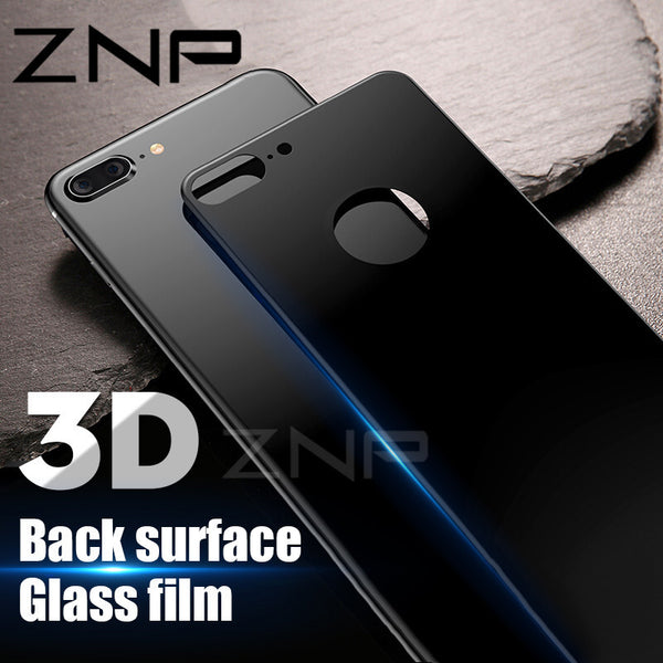 ZNP 0.3mm Back Screen Protector For iPhone X 8 7 Plus Rear Tempered Glass For iPhone 8 7 X Protective Toughened Glass Back Film - DadHats2ow6ix