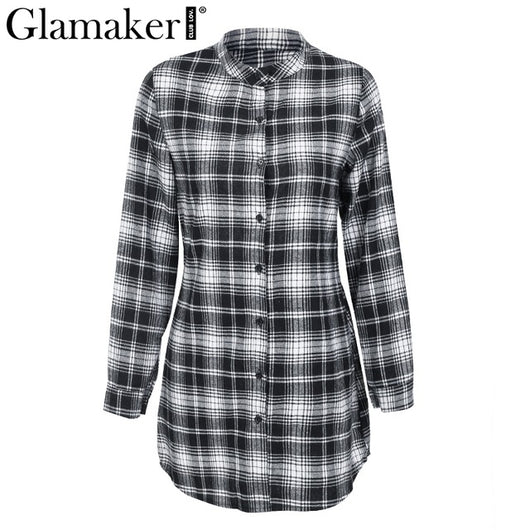 Backless plaid blouses shirt - DadHats2ow6ix