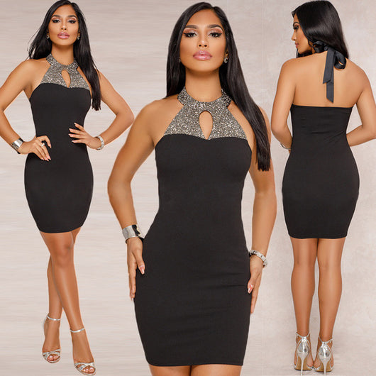 Backless Bodycon Mini Dress - DadHats2ow6ix