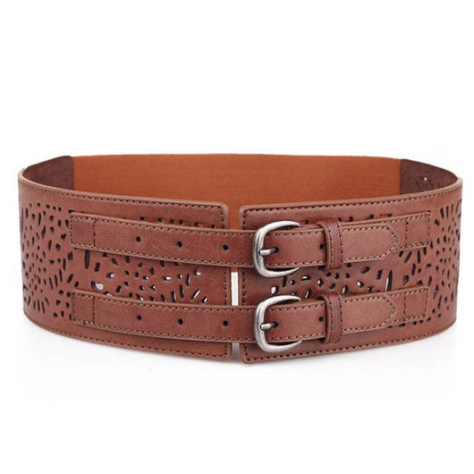 Ultra Wide Waistband Decorative Synthetic Leather Belt - DadHats2ow6ix