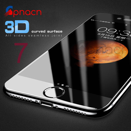 3D Soft Edge 9H Tempered Glass For iPhone 7 6 6S Plus 8 Full Cover Screen Protector For iPhone 6 6S 7 Plus Protective Glass - DadHats2ow6ix