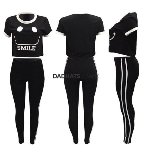 2 Pcs Sets Tracksuit Pattern Print O Neck Loose - DadHats2ow6ix
