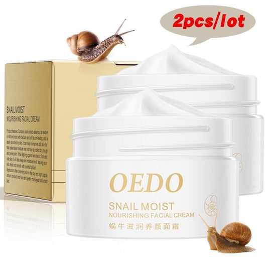 2PCS Snail Essence Skin Care Face Cream Serum Whitening Anti-wrinkle Anti Aging Hydrating Moisturizing Facial Creams Cosmetics - DadHats2ow6ix