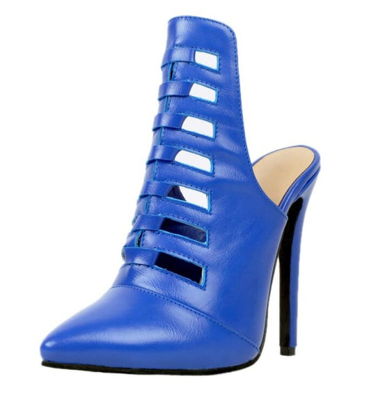 2018 New Arrival Plus Big Size 34-47 Blue Fashion Sexy High Heel Spring Autumn Girls Female Lady Mules Shoes Women Pumps D1172 - DadHats2ow6ix