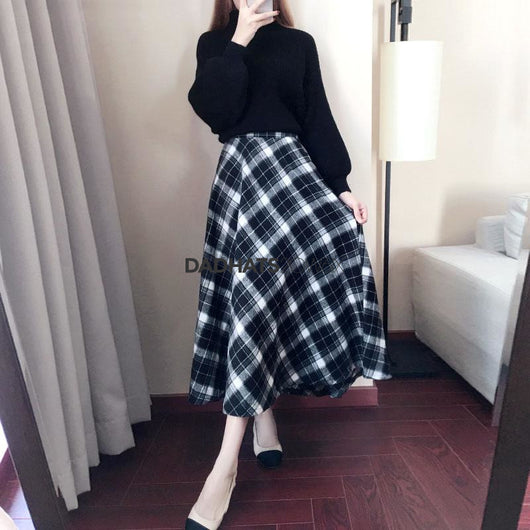 2017 New Arrival Autumn  Winter  Women Dress Long Sleeve Sweater With Woolen  Dresses Fashion Autumn Long A-Line  Dresses female - DadHats2ow6ix