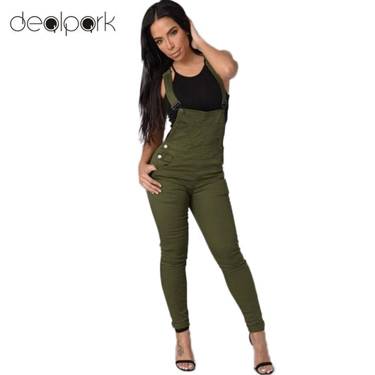 Adjustable Buttoned Pockets Jumpsuit - DadHats2ow6ix