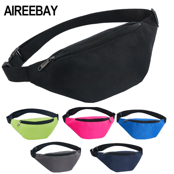 AIREEBAY Waist Bag Female Belt New Brand Fashion Waterproof Chest Handbag Unisex Fanny Pack - DadHats2ow6ix
