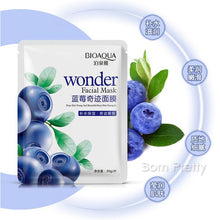 1 Pc Blueberry Miracle Silk Facial Mask